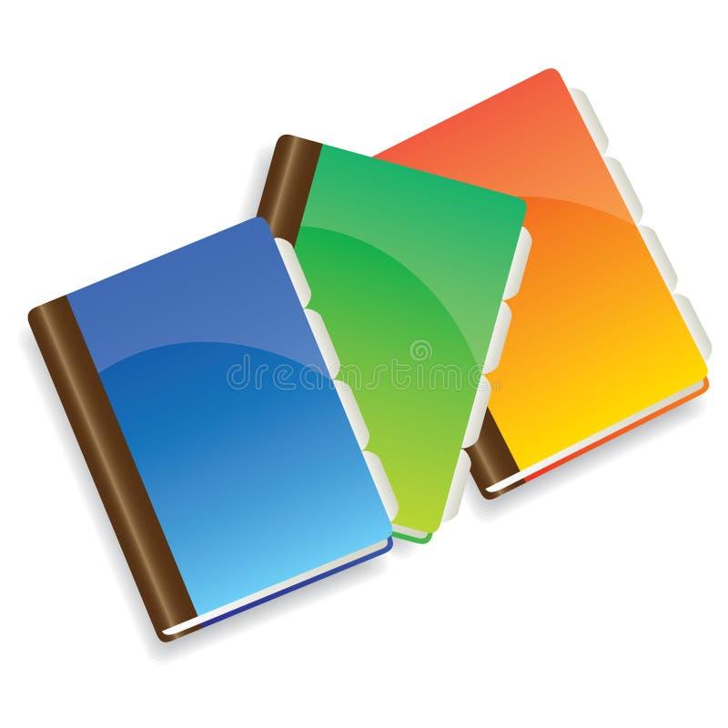 Copybooks illustration de vecteur