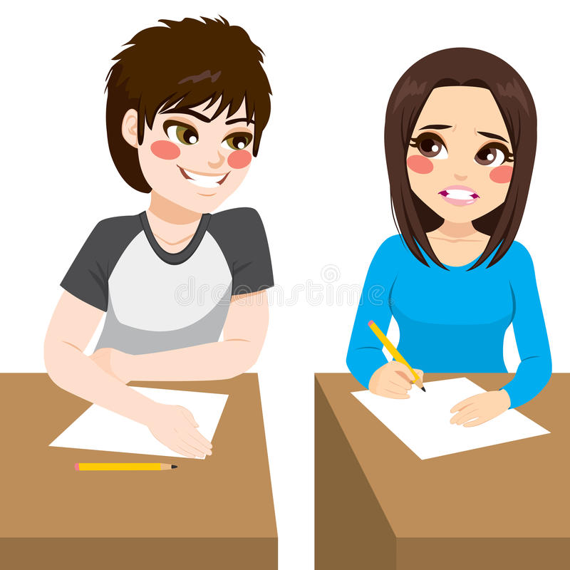 Free Copying Exam Boy Stock Image - 84622201