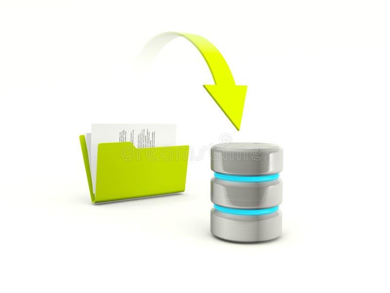 Download Copying Files From Folder To Database Stock Illustration - Illustration: 23362981