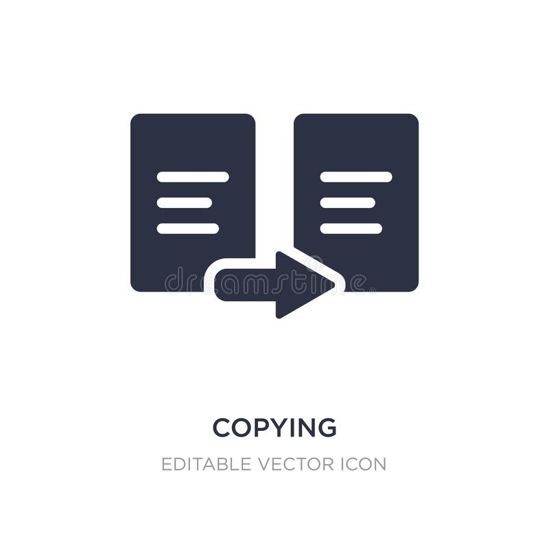 copying icon on white background. Simple element illustration from Signs concept vector illustration
