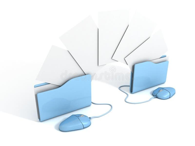 Copyng-Dokumente von Ordner zu Ordner tauschen Dateien aus stockfotos