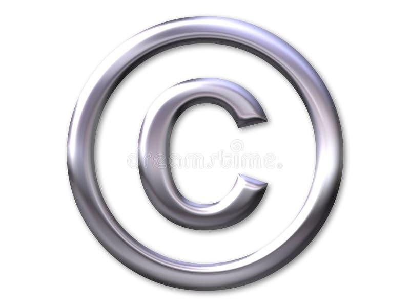 Copyright – silver bevel vector illustration