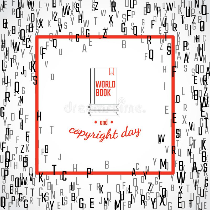 Copyright and book day stock illustration