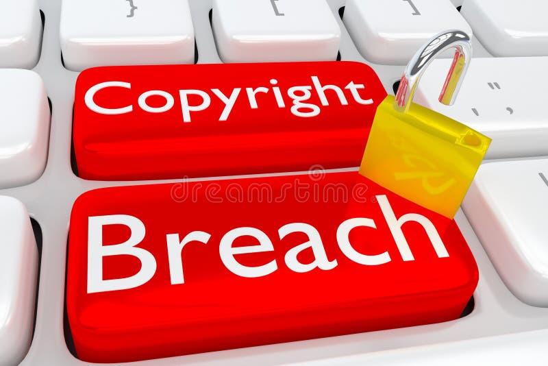 Copyright brytningbegrepp stock illustrationer