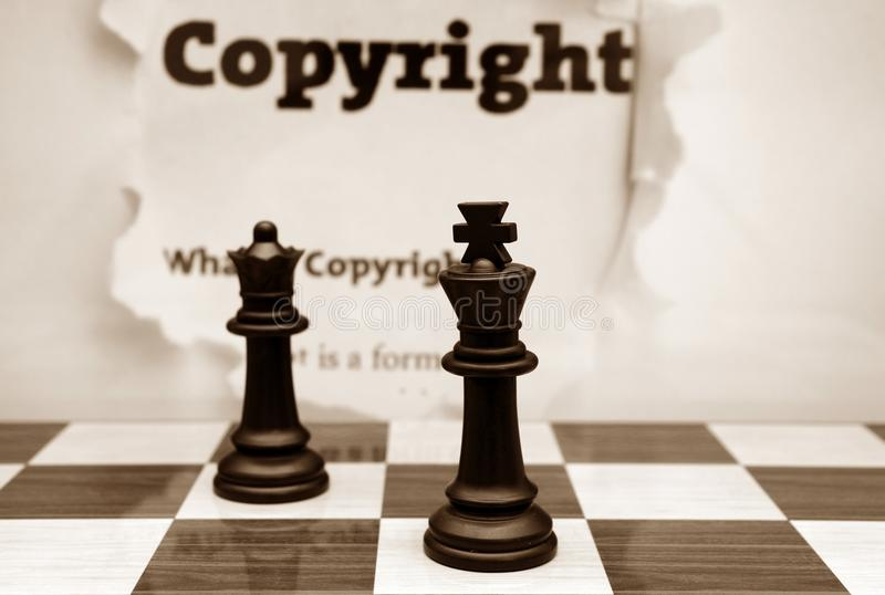 Copyright And Chess Concept Royalty Free Stock Photography