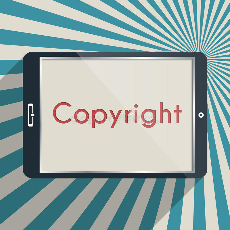 Copyright. Concept for protection of intellectual property and copyright. Flat design illustration stock illustration