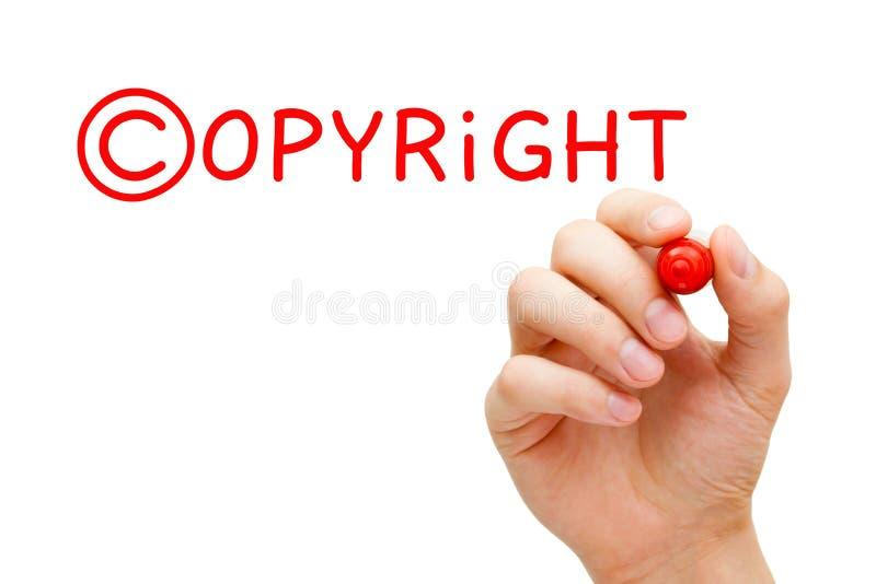 Copyright-Concepten Rode Teller stock afbeeldingen