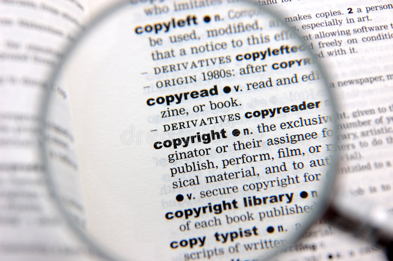 copyright definitionen royaltyfri bild