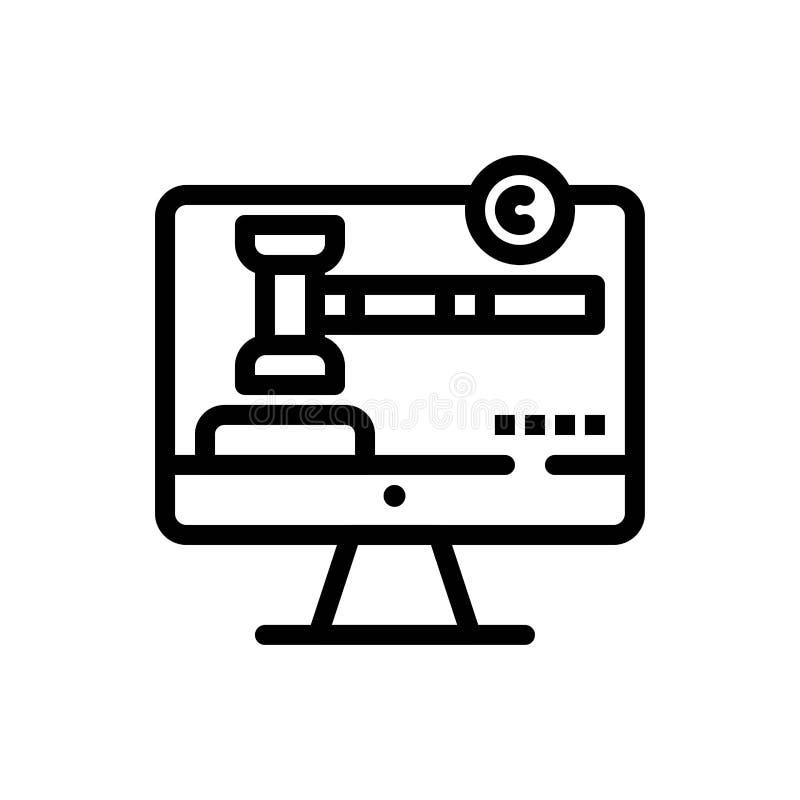 Copyright, Copyright, Digital, Gesetzesblau und rotes Download und Netz Widget-Karten-Schablone jetzt kaufen stock abbildung
