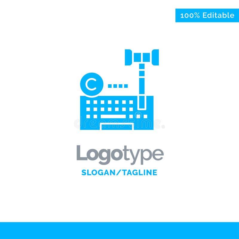 Copyright, Digital, Internet, Gesetz, Rechtsanwalt Blue Solid Logo Template Platz f?r Tagline vektor abbildung