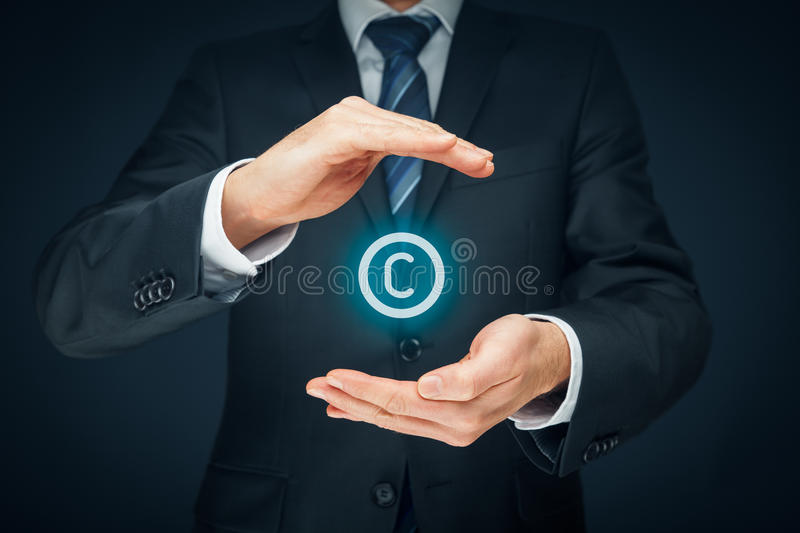 Copyright e proprietà intellettuale fotografia stock