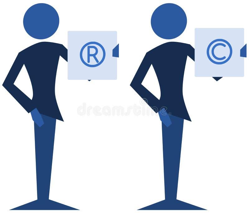 Copyright en handelsmerk stock illustratie