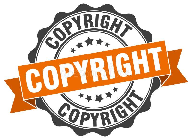 Copyright stamp. Copyright grunge stamp on white background stock illustration