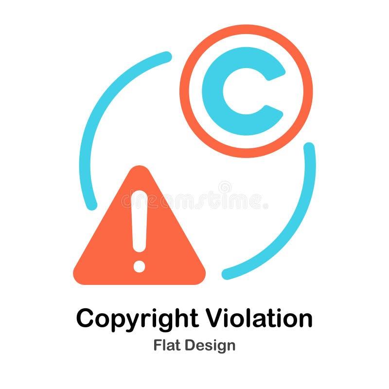 Copyright overtreedt Vlakke Illustratie royalty-vrije illustratie