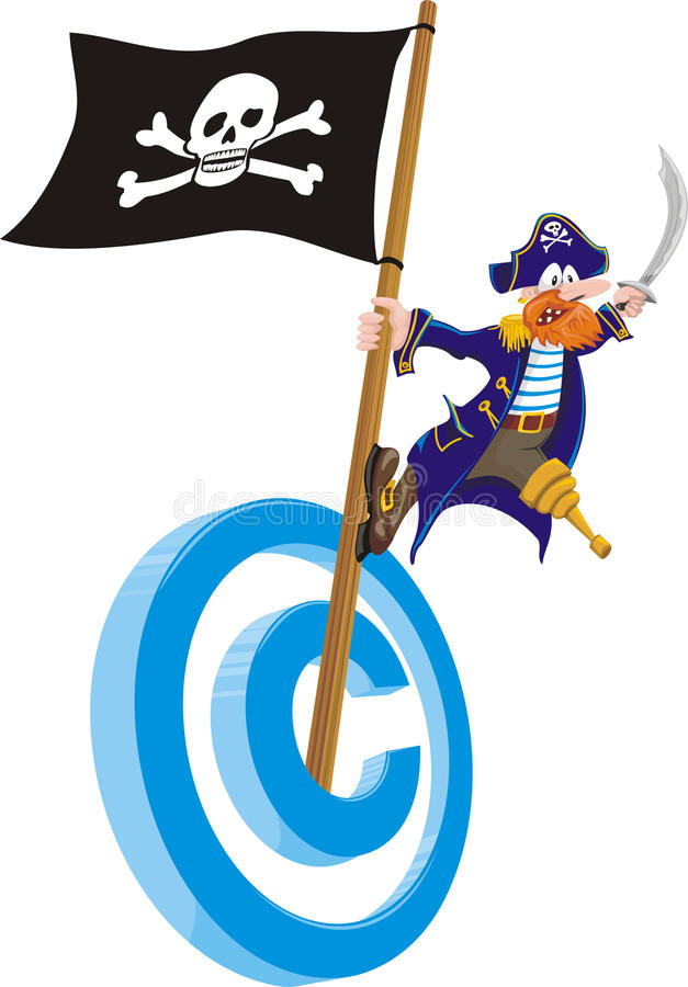 Download Copyright piracy stock vector. Image of website, ship - 24254656