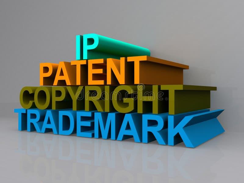 Copyright pojęcia znak royalty ilustracja