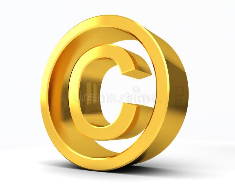 Copyright Registered C. Symbol with white background stock illustration