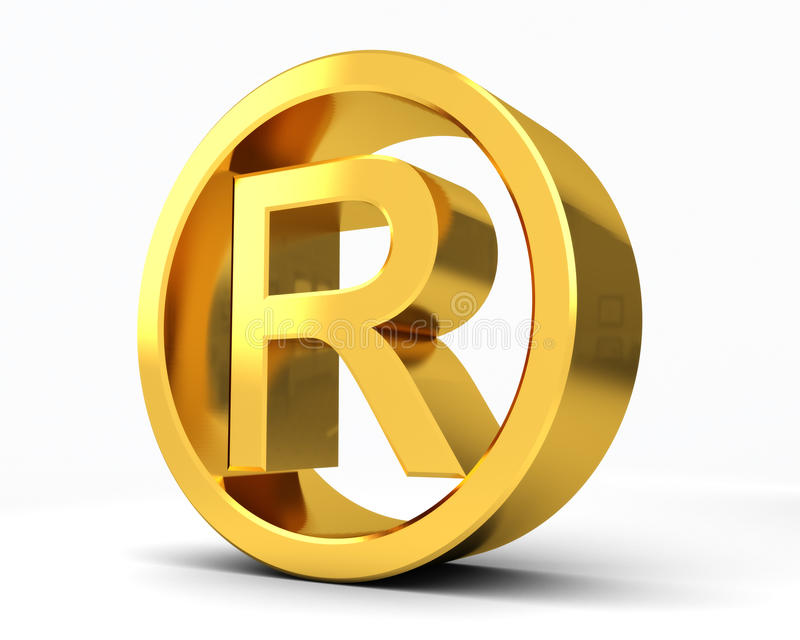 Copyright Registered R. Copyright Registered with white background vector illustration