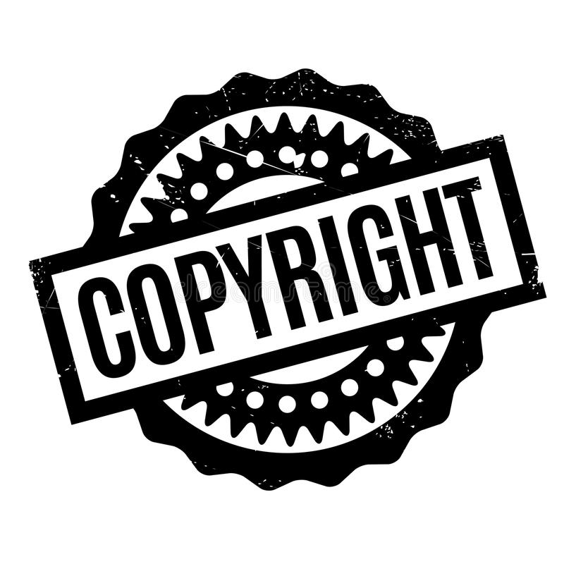 Copyright rubber stamp. Grunge design with dust scratches. Effects can be easily removed for a clean, crisp look. Color is easily changed vector illustration