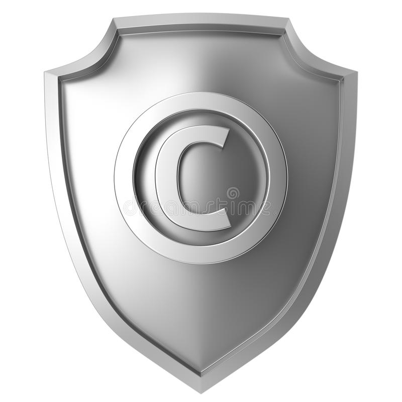 Copyright-Schild stock abbildung