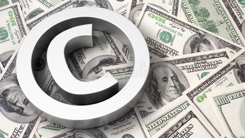 Copyright se connectent le fond du dollar illustration stock