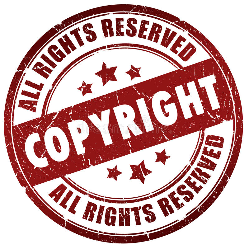 Copyright stamp. Isolated over white royalty free illustration