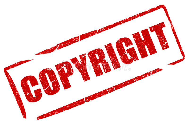 Copyright stamp. Isolated on white royalty free illustration