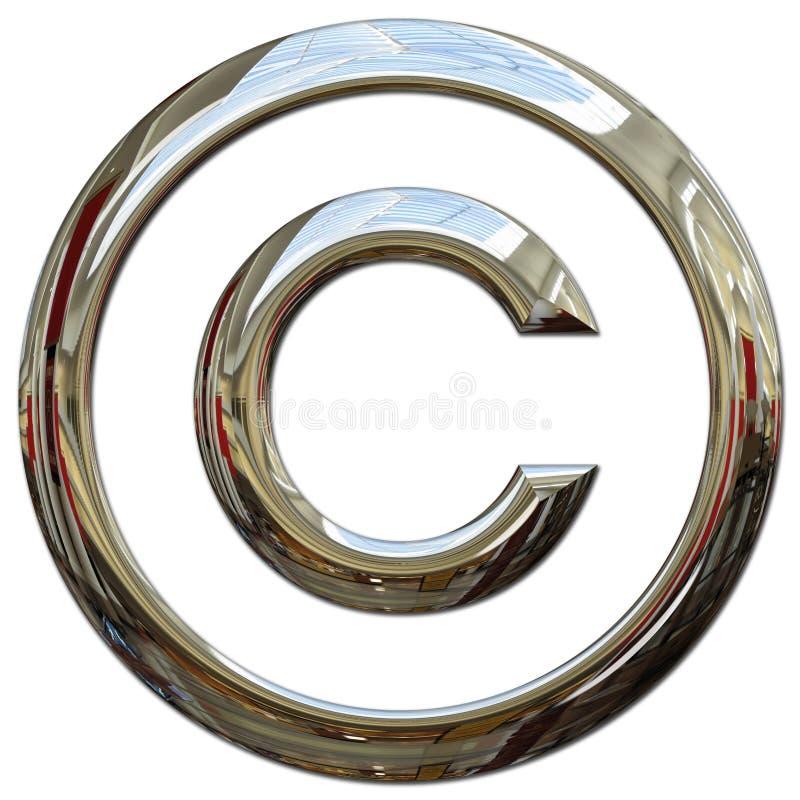 Copyright symbol. Copyright chrome logo illustration on white vector illustration