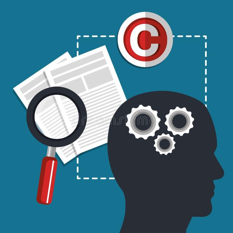 Copyright symbol design. Illustration vector illustration