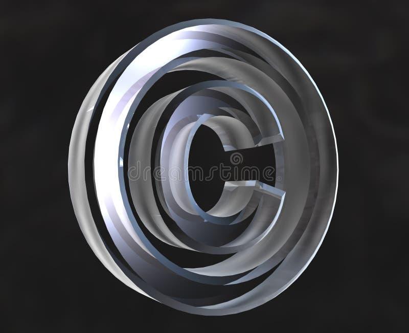 Download Copyright symbol in glass stock illustration. Image of metal - 3358940
