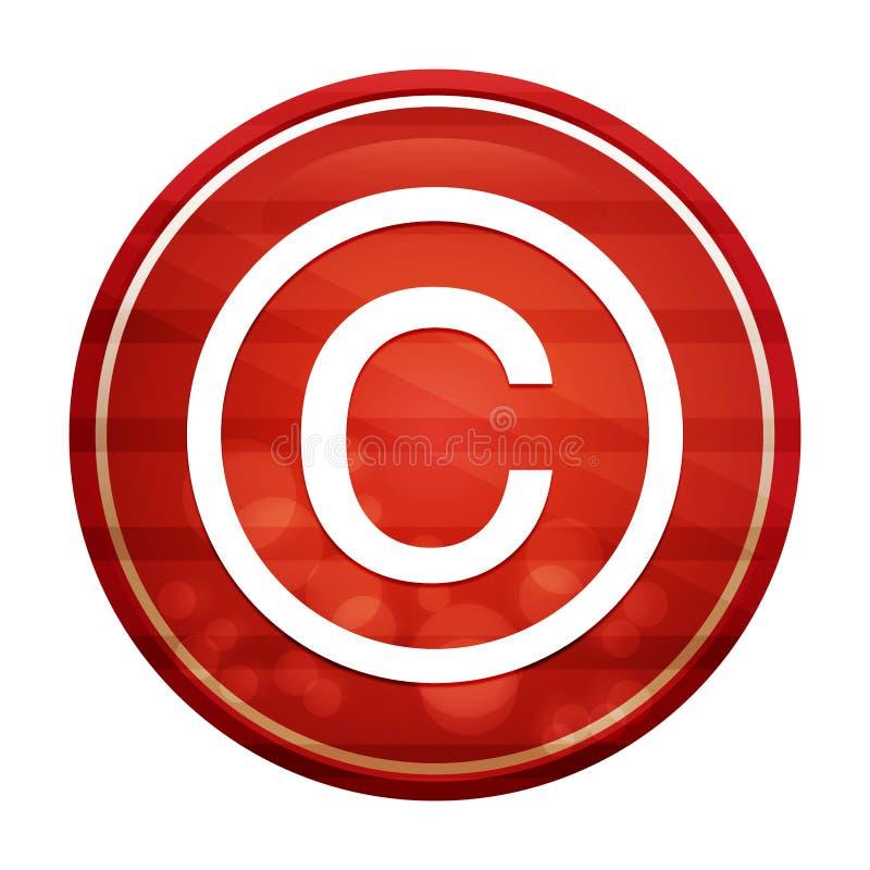 Copyright symbol icon realistic diagonal motion red round button illustration royalty free illustration