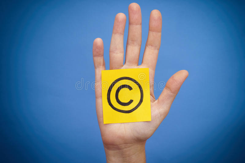 Copyright symbol royalty free stock photo