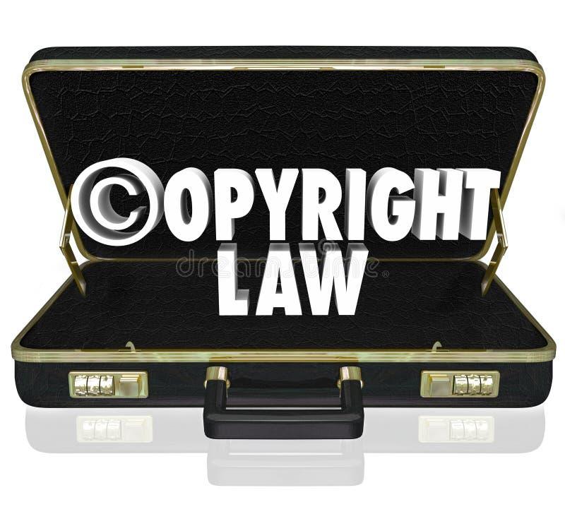 Copyright-van de de Procureursadvocaat van de Wets het Wettelijke Rechtszaak Symbool van Suit C stock illustratie
