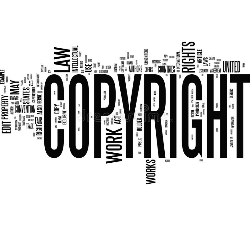 Copyright words. Copyright tag cloud for your design royalty free illustration