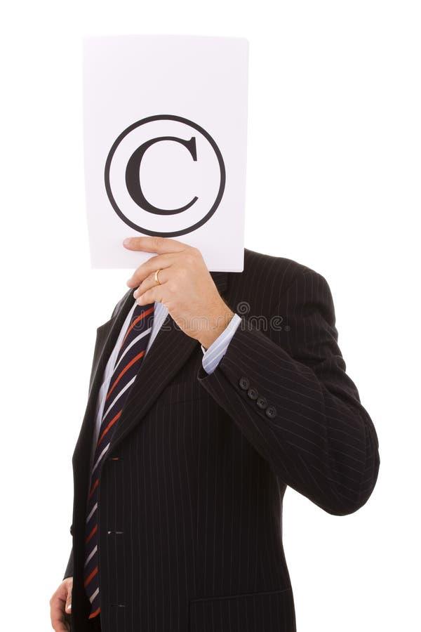 Copyrightgeschäftsmann lizenzfreies stockfoto