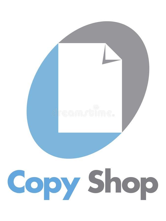 copyshop徽标 皇族释放例证