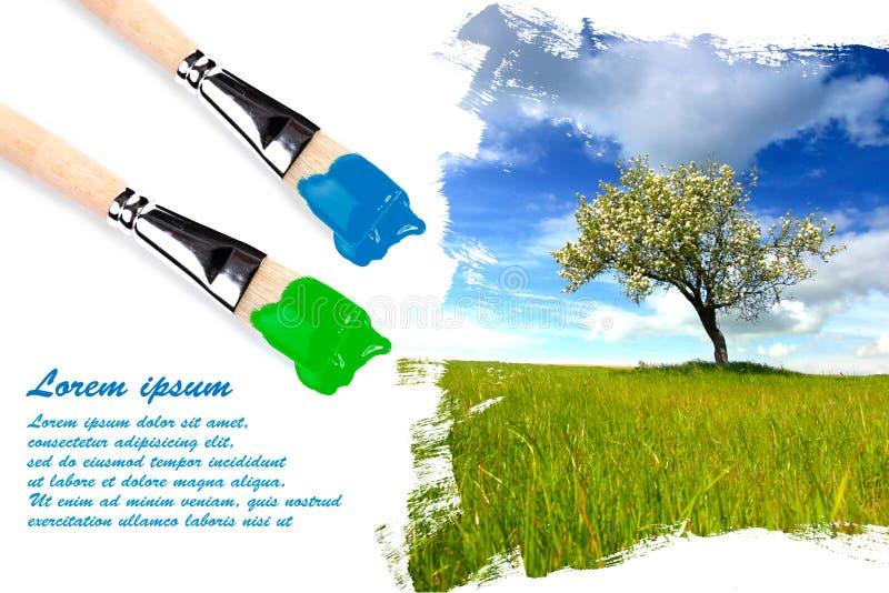 copyspace ζωγραφική τοπίων στοκ φωτογραφίες με δικαίωμα ελεύθερης χρήσης
