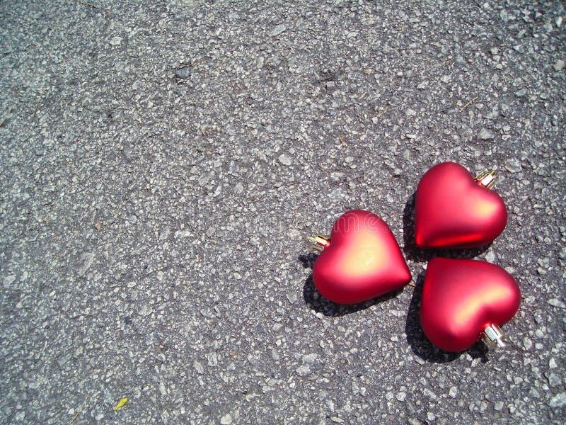 copyspace καρδιές τρία στοκ φωτογραφία