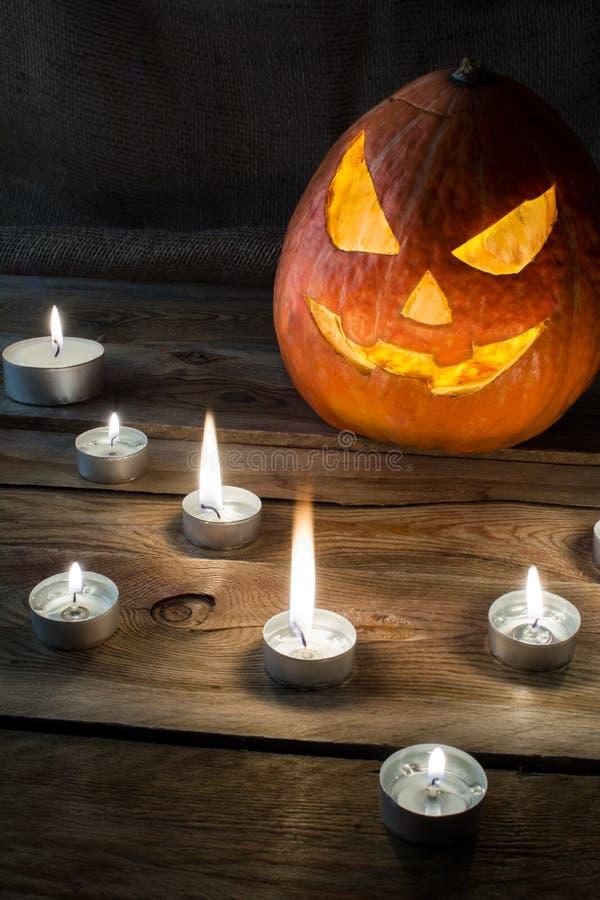 Copyspace вертикали тыквы хеллоуина стоковое фото rf