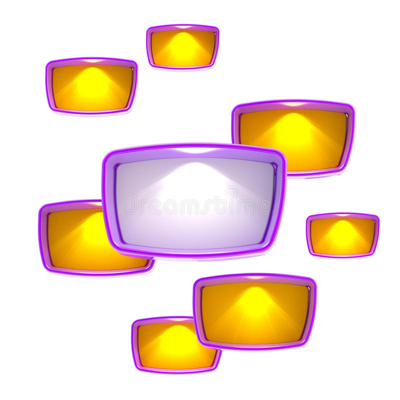 Download Copyspace Background Made Of Light Boxes Stock Illustration - Illustration: 24684162