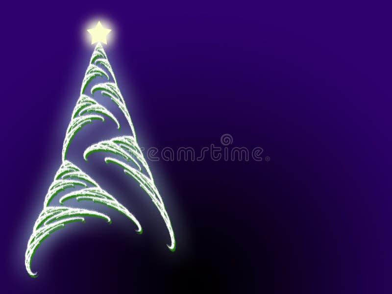 copyspace bożego narodzenie gwiazdy drzewo ilustracji