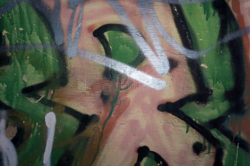 Copyspace branco do curso da pintura em uma parede do bloco do cimento Grunge urbano ilustração stock