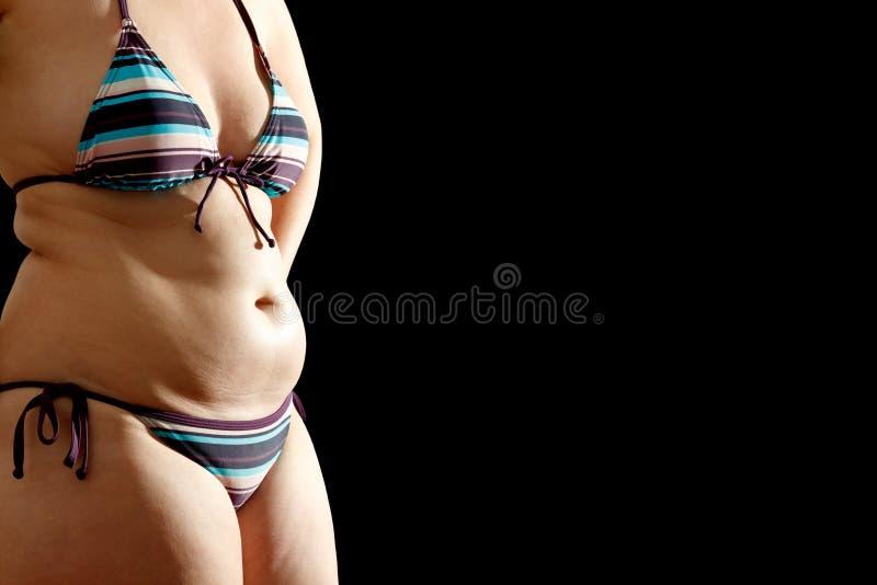 Copyspace för bakgrund för bikinifettsvart arkivbild