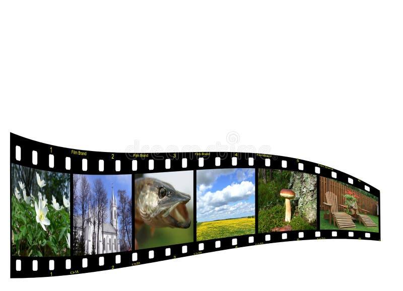 copyspace filmstrip ilustracji