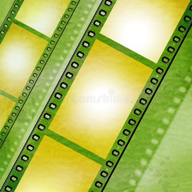 Copyspace Filmstrip Pokazuje Fotograficzną kinematografię I rolkę ilustracja wektor
