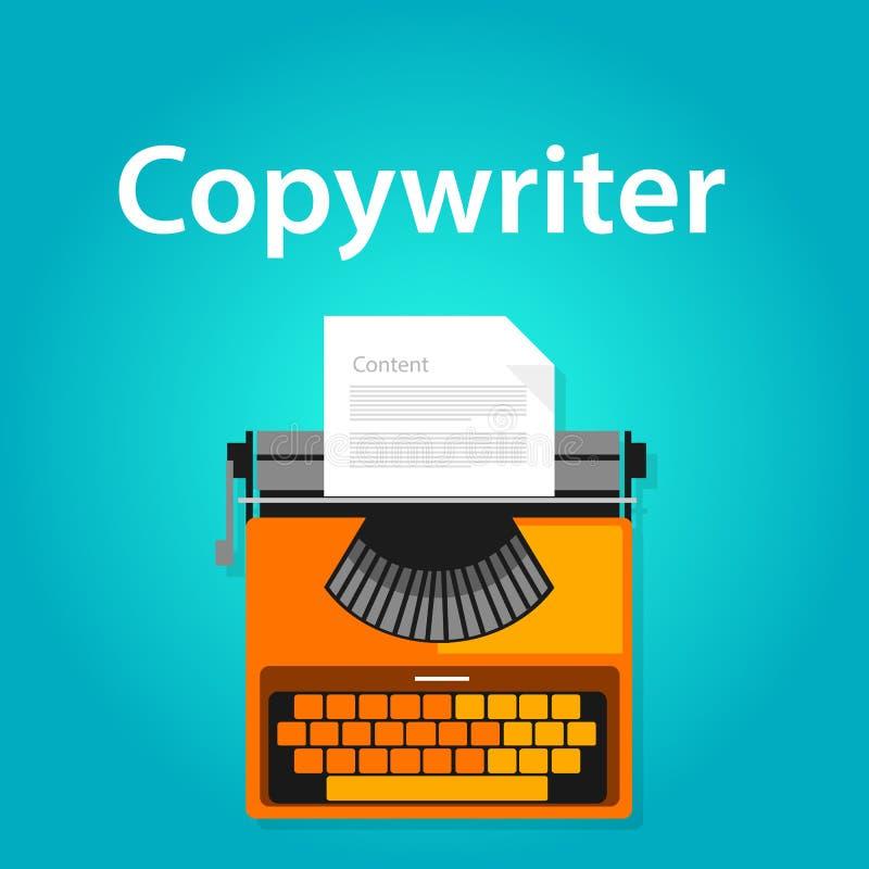 Copywriter jobs typing machine typewriter office working vacancy. Vector vector illustration