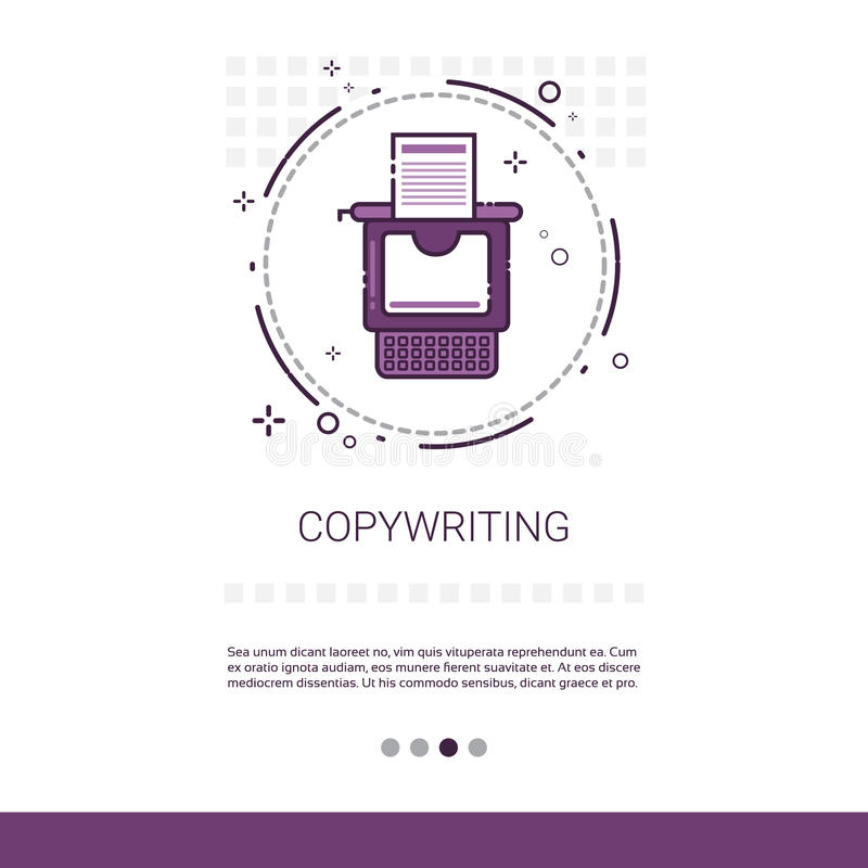 Copywriting Freelance Occupation Content Marketing Web Banner With Copy Space. Vector Illustration vector illustration