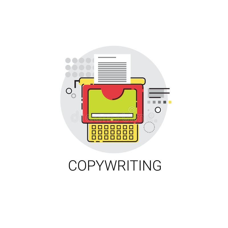 Copywriting Freelance zajęcie zawartości Marketingowa ikona ilustracja wektor
