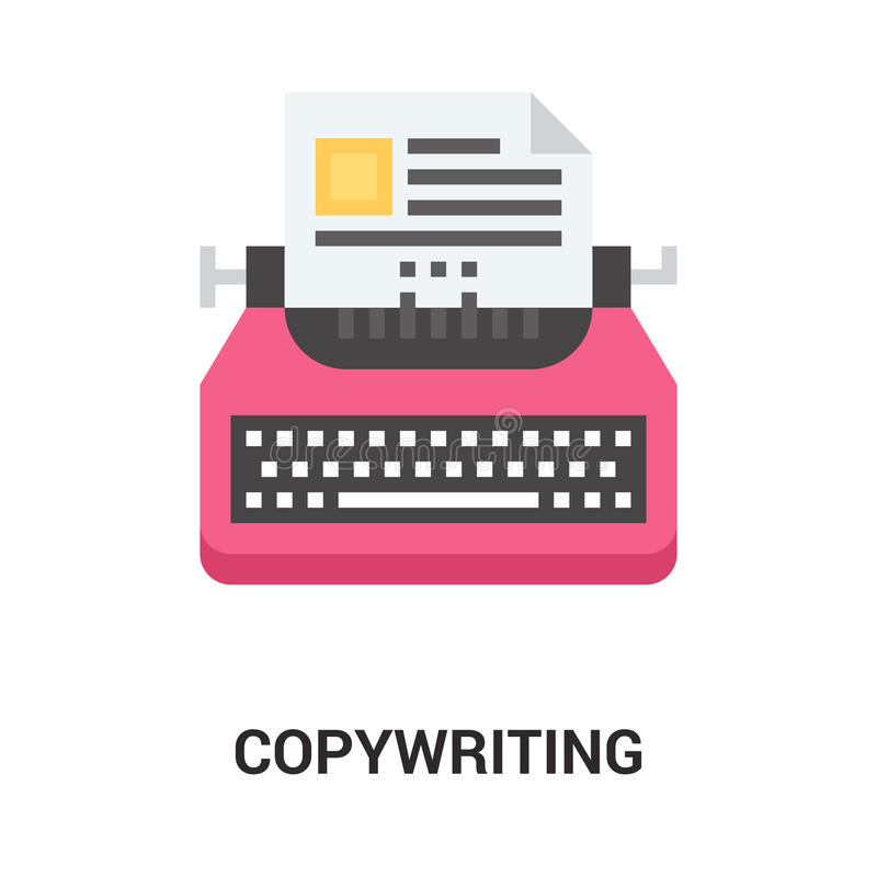 Copywriting icon concept royalty free illustration