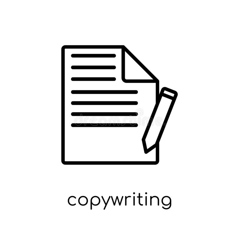 copywriting icon. Trendy modern flat linear vector copywriting i royalty free illustration